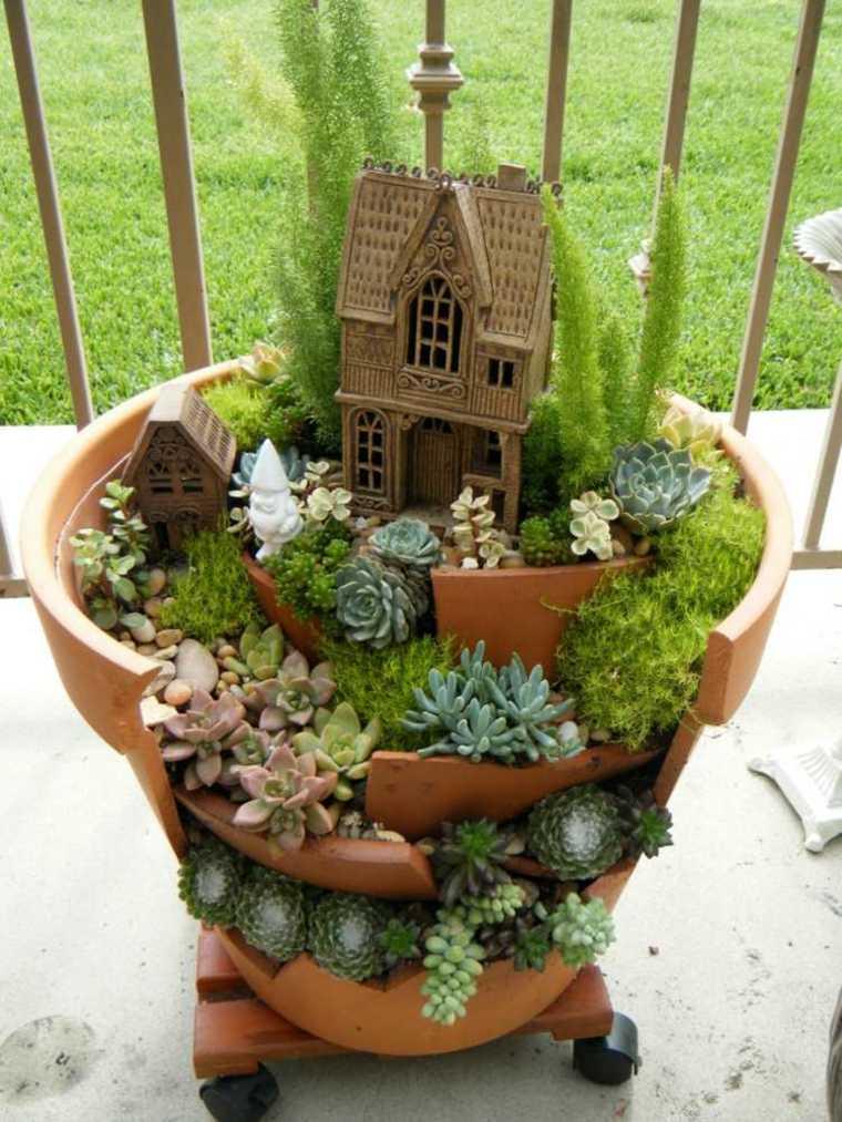 estupenda casira mini jardin