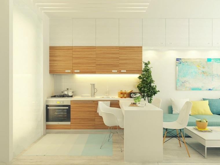 Mini cocinas c mo aprovechar su espacio al m ximo - Aprovechar espacio cocina ...