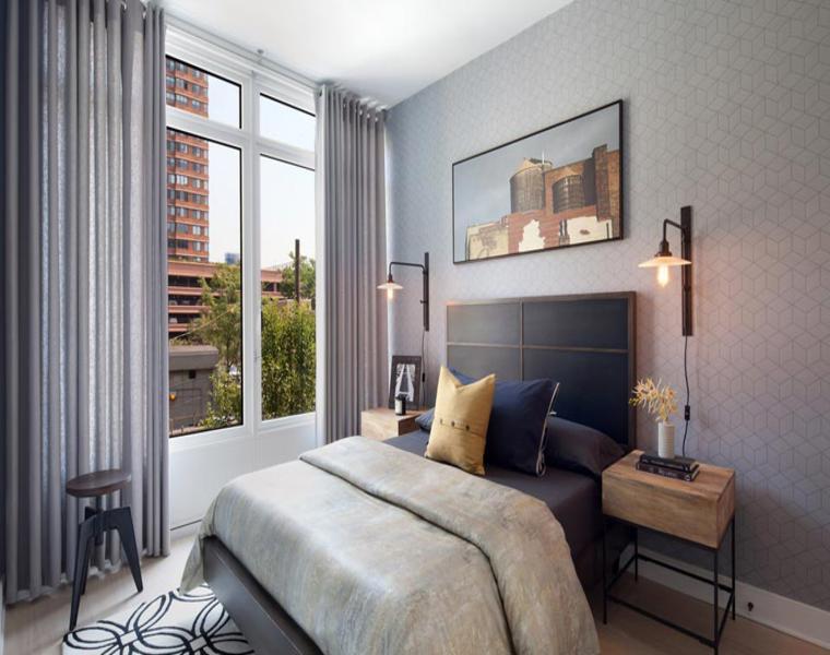 estupendas cortinas habitación gris