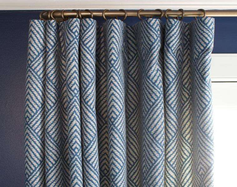 cortina patrones colores azules