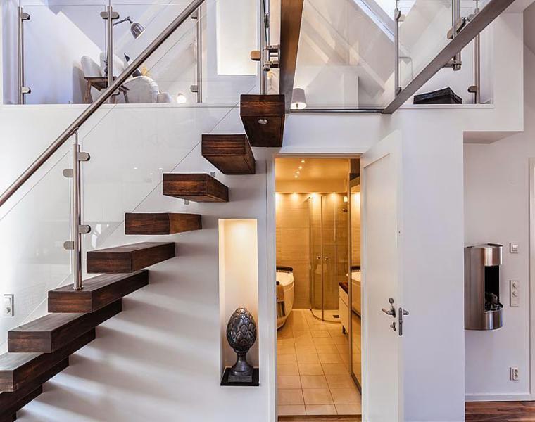 estupendo interior mdoerno escalera minimalista