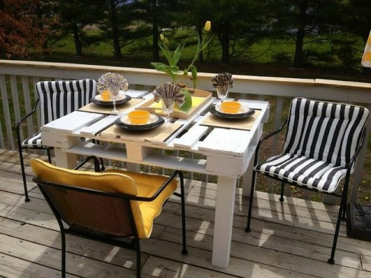 estupendo diseño mesa terraza