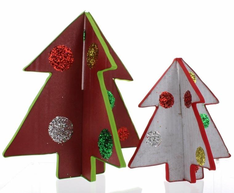 estupendos abetos navideños carton tela