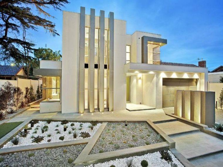 Fachadas De Diseno Para Casas Elegantes Y Modernas - Diseo-de-fachadas-de-casas