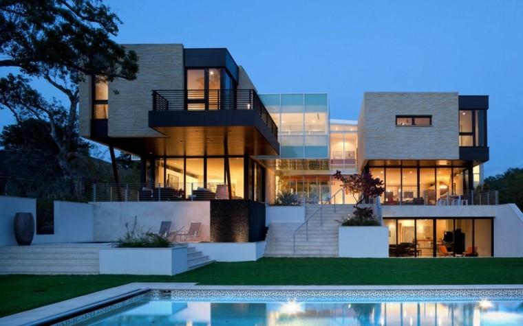 fachadas casas elegantes