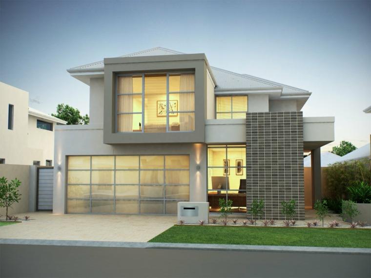 fachadas de casas elegantes
