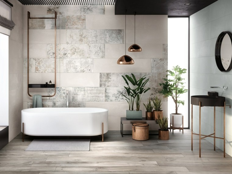 fotos banos modernos diseno estilo plantas ideas