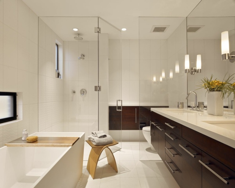 fotos de banos modernos lavabo madera ideas