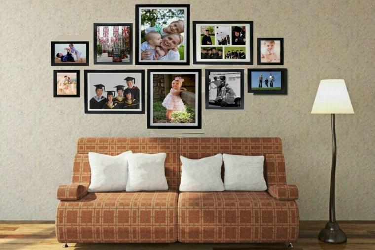 Mural de fotos para la decoraci n de los interiores - Cuadros con fotos familiares ...