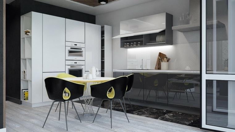 futurista detalles apartamento colores imagenes
