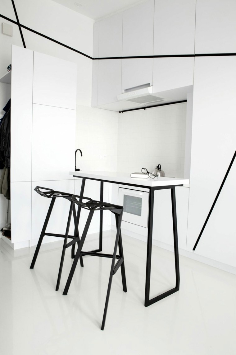 geometrica blanca negra combinaciones sillas