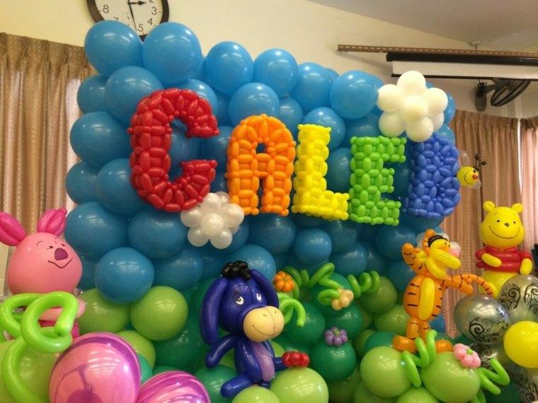 Decoracion Original Cumplea?os ~ Combinando los colores de los globos con los colores de la decoraci?n