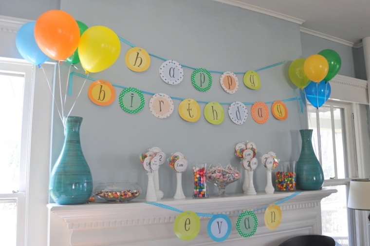 globos para cumpleaos decoracin interiores with decoracion de cumpleaos con globos