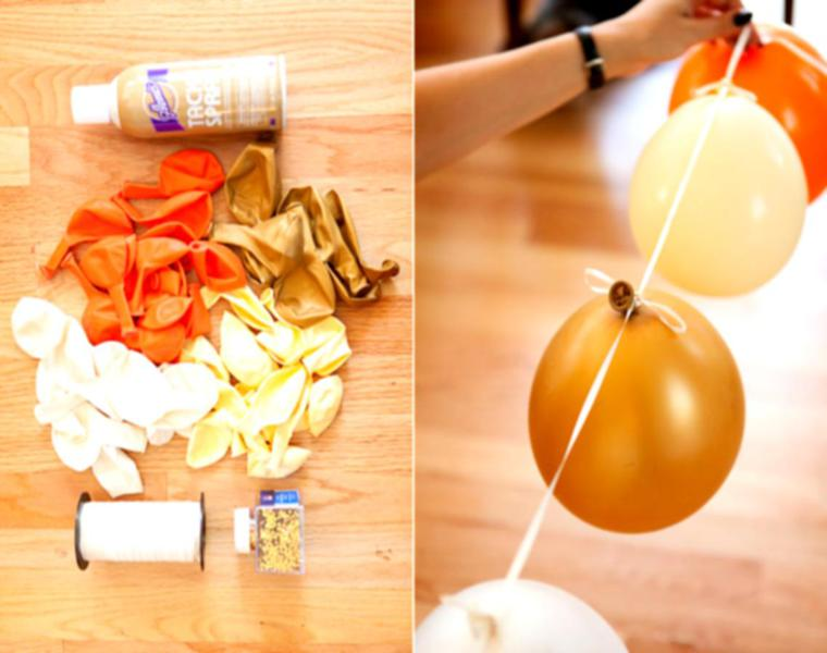hacer guirnalda globos colores