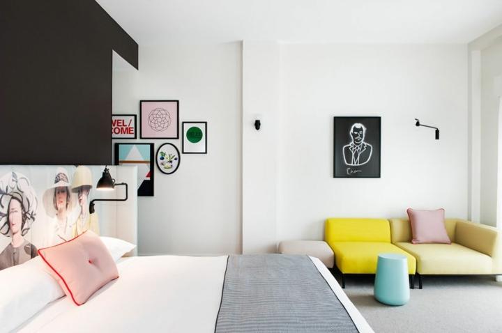 hoteles habitaciones cojines esferas amarillo