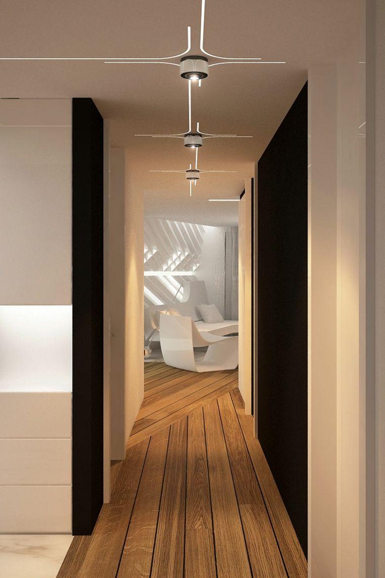Pasillos pintados y decorados para interiores modernos - Ideas para pintar un pasillo ...