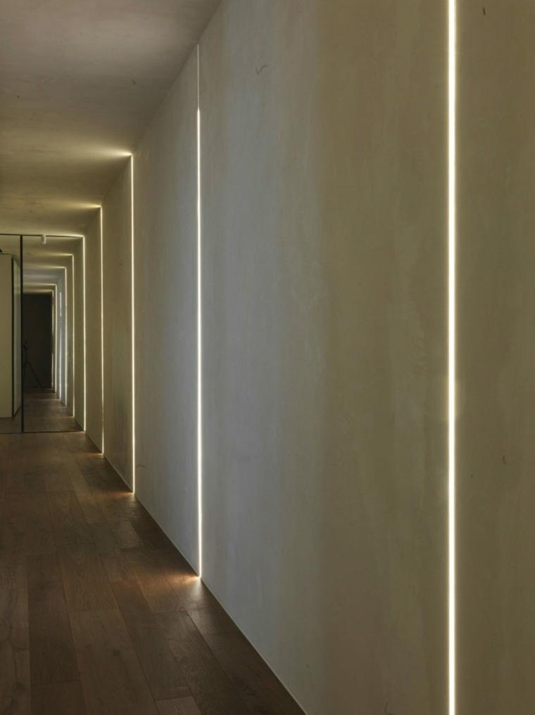 iluminacion ideas paredes hormigon sistemas