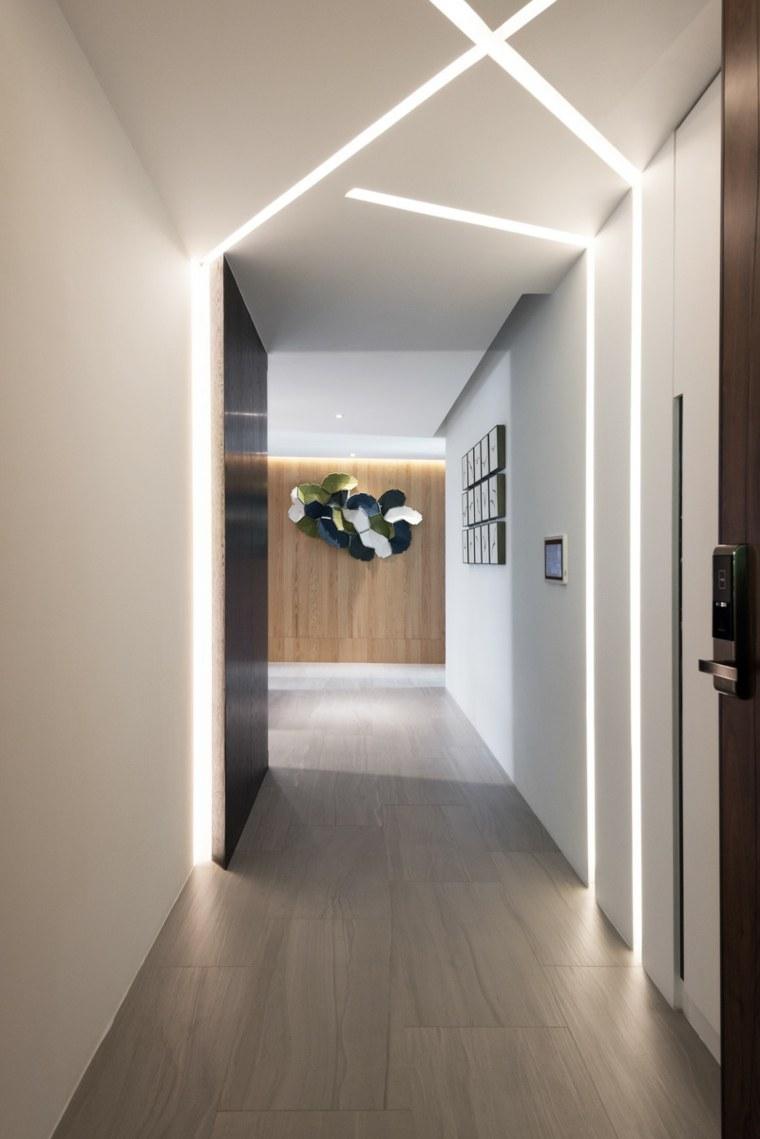 iluminacion ideas pasillos interiores cruzados