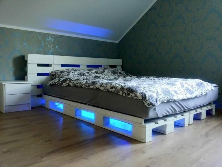 impresionante cama luces Led europalet