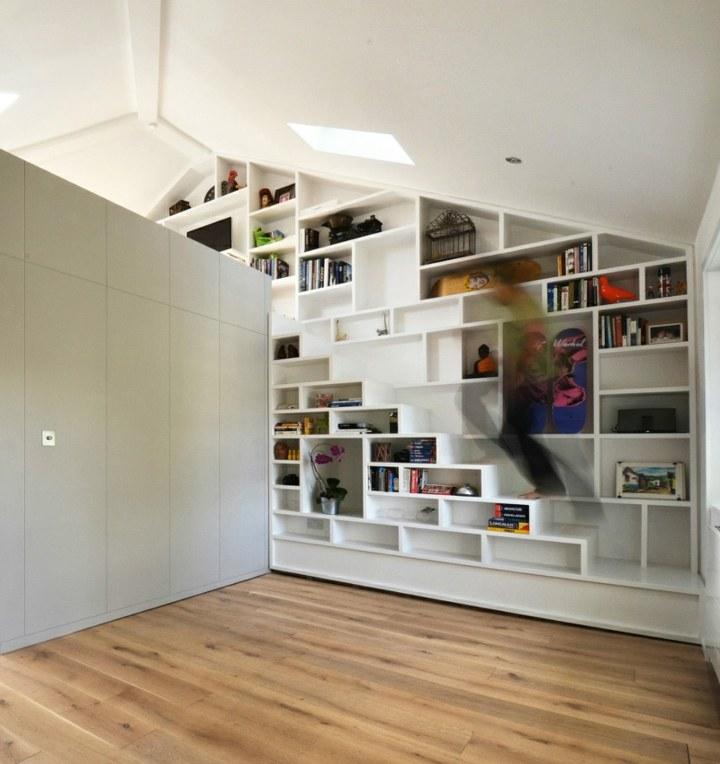 incorporada paredes muebles estables blanco niveles