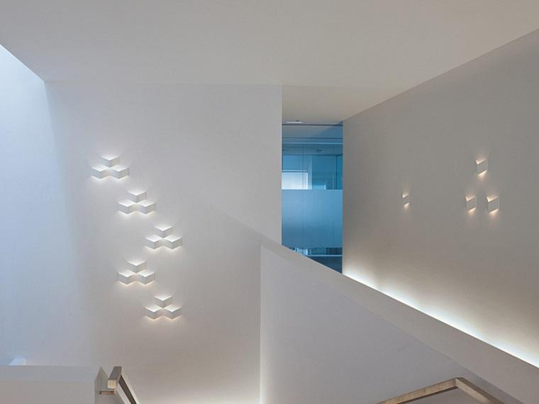 increibles paredes formas geometricas pasillos