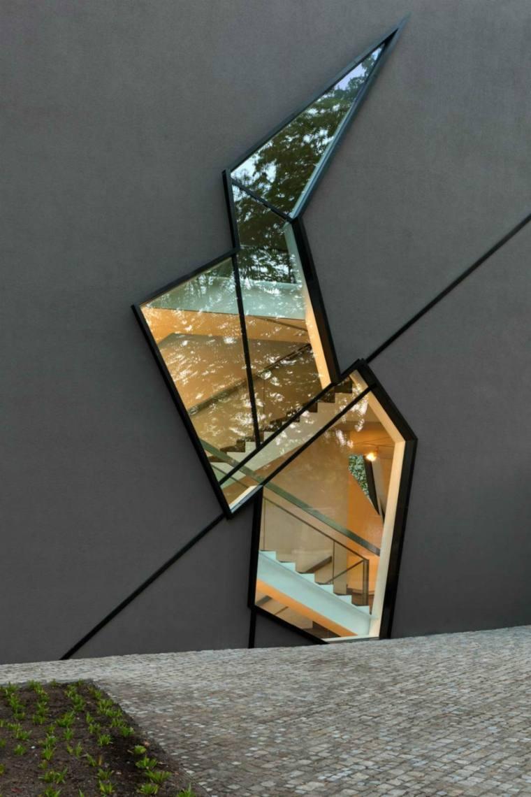 la ventana geometricas salas materiales ramas