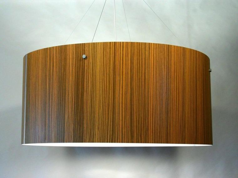 lámpara de madera redonda