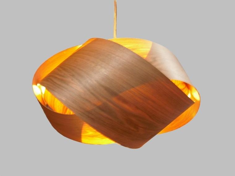 lmparas colgantes de madera
