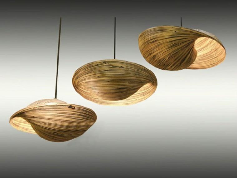 lámparas de madera elegantes