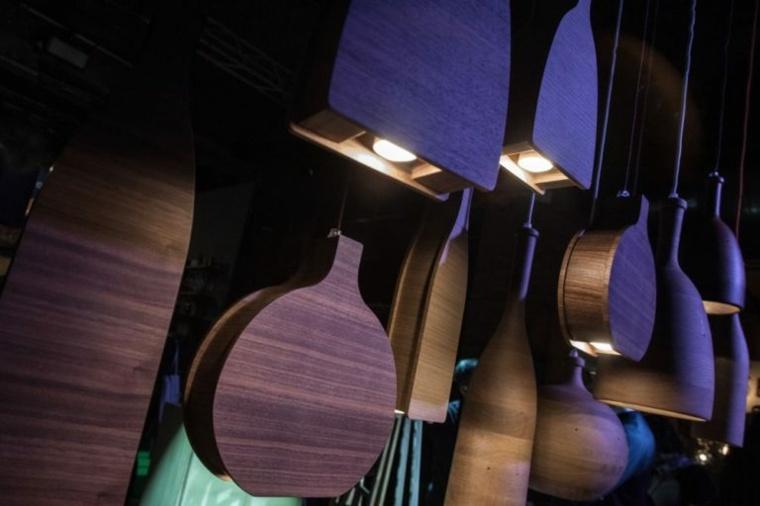 lámparas de madera originales