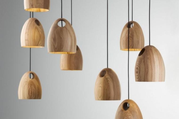 lámparas de madera pequeñas