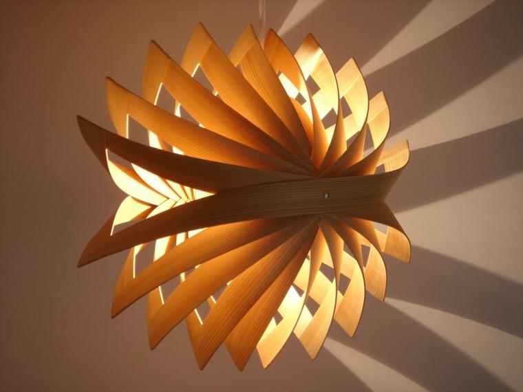 lámparas de techo de madera