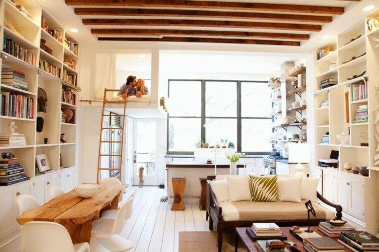 loft vigas madera elementos segmentos materiales