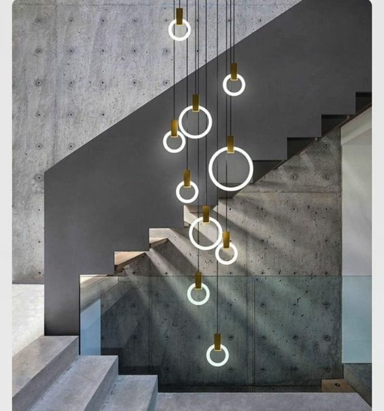 luces colganmtes paneles cemento