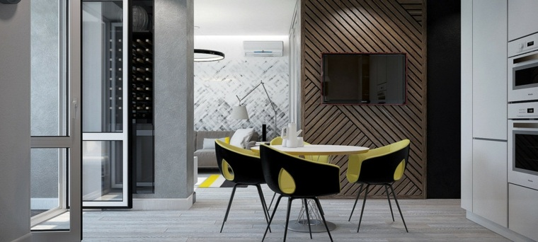 madera pared textura estilo sillas