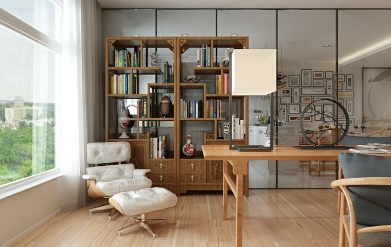 madera suelos sillones comodos lectura