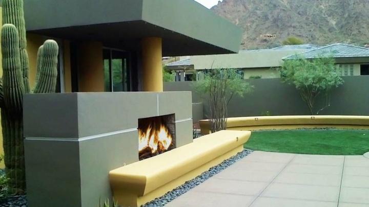 materiales catcus jardines muebles banco