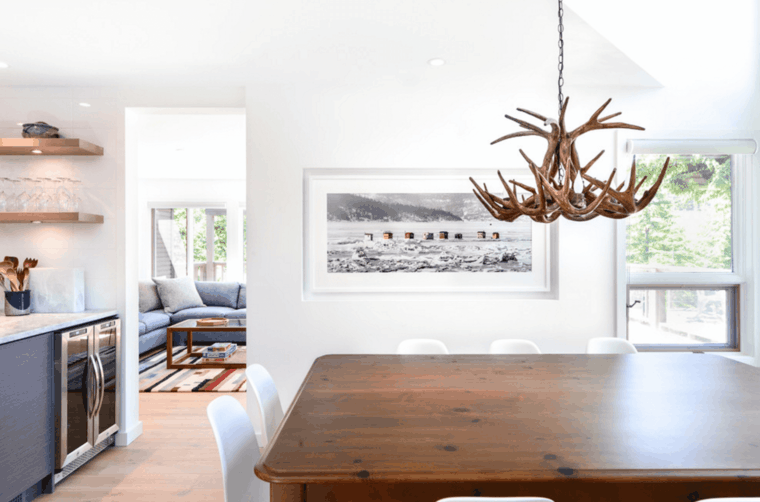 mesa moderna lampara colgante