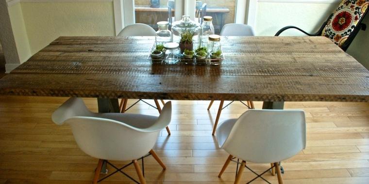 mesa comedor madera natural