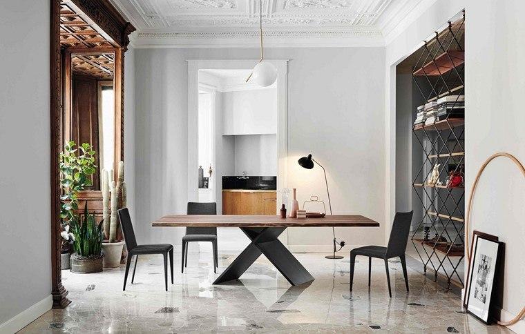 mesas de madera ax coleccion mesa madera bonaldo diseno ideas