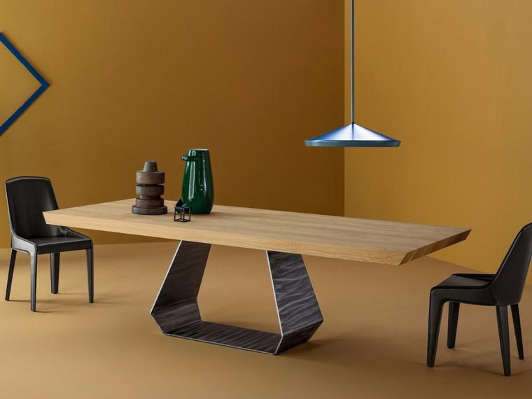 Mesas de madera 24 dise os para el comedor moderno for Mesas de tv de diseno