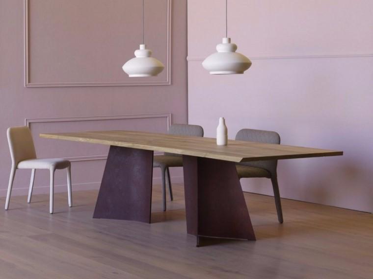 mesas de madera comedor diseno maggese plus miniforms paolo cappello ideas