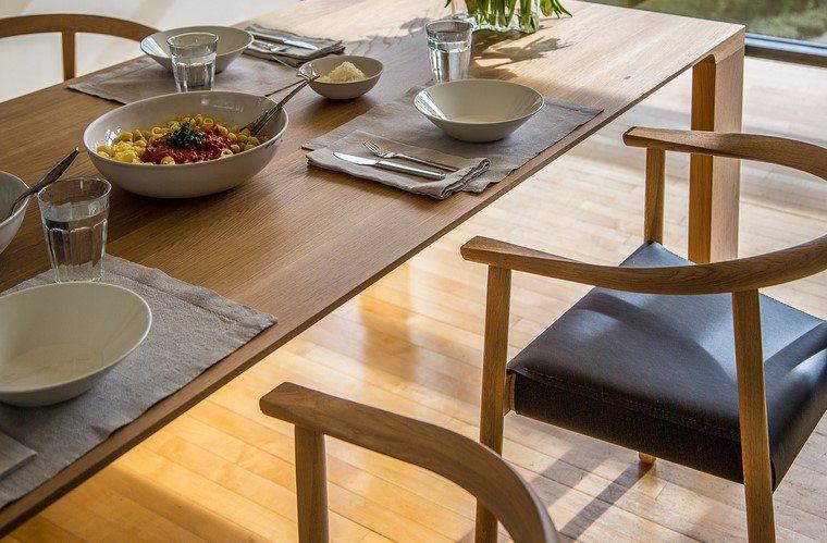 mesas de madera comedor diseno radius mesa bensen ideas