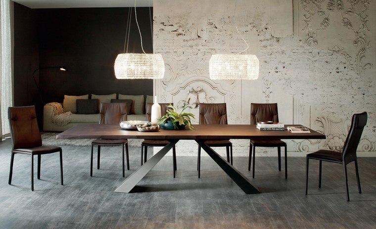 mesas de madera diseno eliot mesa cattelan italia ideas