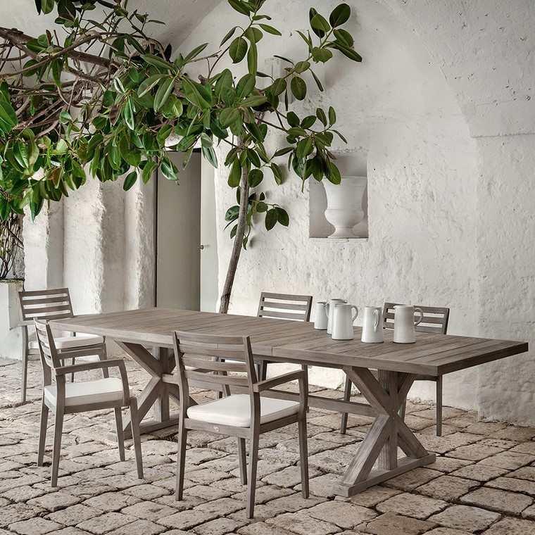 mesas de madera diseno ethimo cronos mesa madera ideas