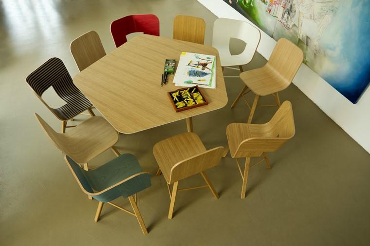 mesas de madera forma original cole lorenz kaz ideas