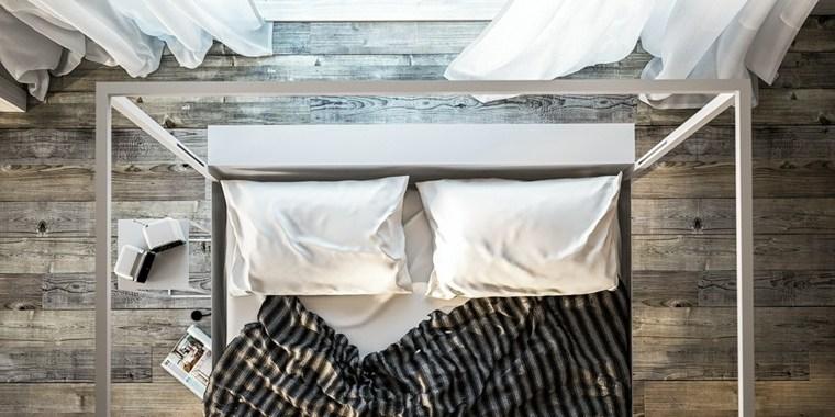 metal pintado cama dosel diseno filodesign ideas