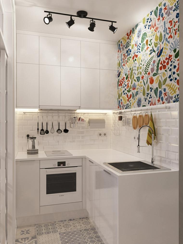mini cocina color blanco