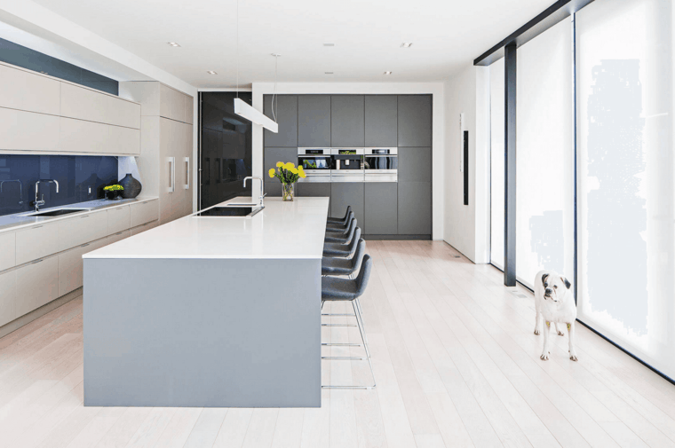 Interiores modernos e inspiradores de estilo minimalista for Salon comedor minimalista