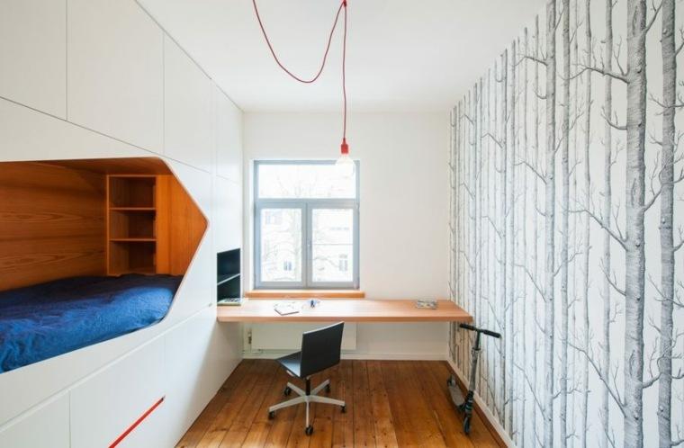 mobiliario diseño camas conceptos escritorio luces